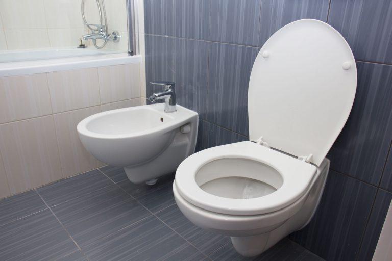 Toilette mit Spülkasten-3