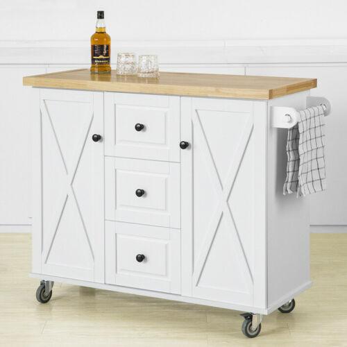 Kücheninsel Küchenwagen mit 2 Türen Küchenschrank m