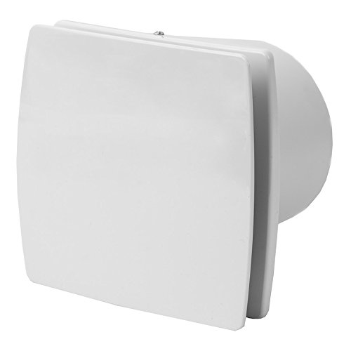 100mm Bad-Lüfter mit Feuchtesensor und Timer - Ventilator - Leise - Weiß