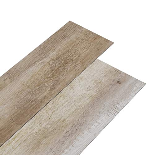 vidaXL PVC Laminat Dielen Vinylboden Vinyl Boden Planken Bodenbelag Fußboden Designboden Dielenboden 5,02m² 2mm Selbstklebend Holz Gewaschen