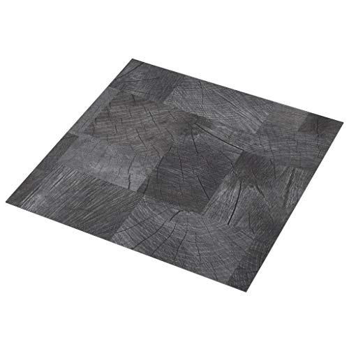 vidaXL PVC Laminat Dielen Selbstklebend Vinylboden Vinyl Boden Planken Bodenbelag Fußboden Designboden Dielenboden 5,11m² Holzoptik Grau