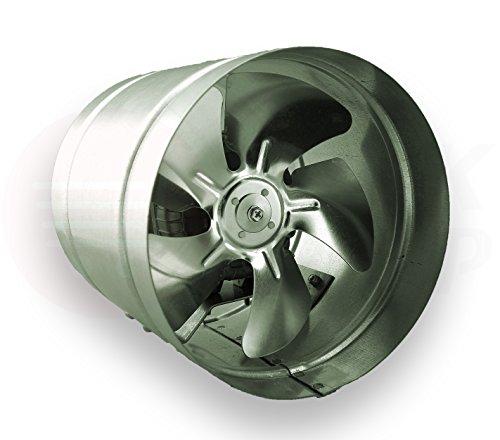 Axial Rohrventilator Ø 210 mm Rohrlüfter Lüfter 400m³/h Hochdruck Ventilator Zuluft Abluft Gebläse Metall Radialventilator Absauglüfter Absaugung aR