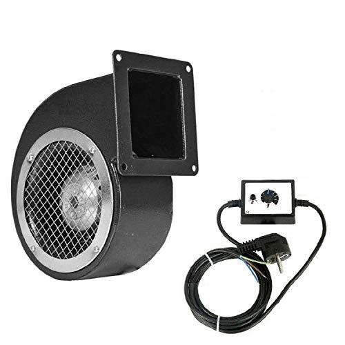 Uzman-Versand DRS120 Lüfter, und 500Watt Drehzahlregler Druckgebläse Kesselgebläse Kühlung Kessellüfter Motor Ventilator Industriegebläse Druckventilator Kühlungsventilator Heizungsgebläse