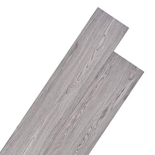 vidaXL PVC Laminat Dielen Rutschfest Wasserfest Vinylboden Vinyl Boden Planken Bodenbelag Fußboden Designboden Dielenboden 4,46m² 3mm Dunkelgrau