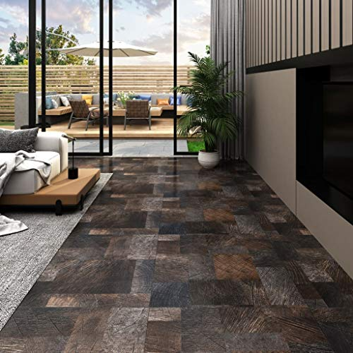 pedkit PVC Laminat Dielen Vinylboden Vinyl Boden Planken Bodenbelag Fußboden Designboden Dielenboden 5,11 m² Holzoptik Braun