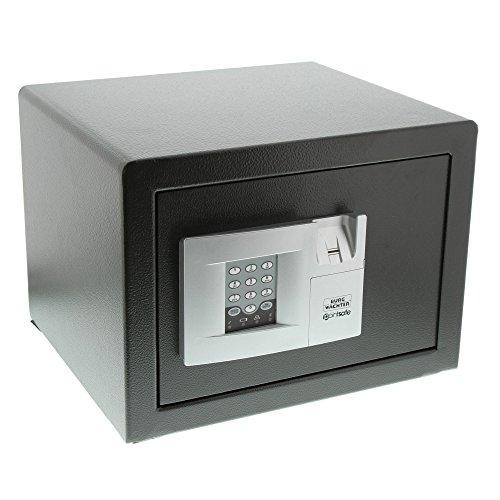 BURG-WÄCHTER Möbeltresor mit elektronischem Zahlenschloss und Fingerabdruck, Zur Wand- und Bodenbefestigung, PointSafe P 2 E FS